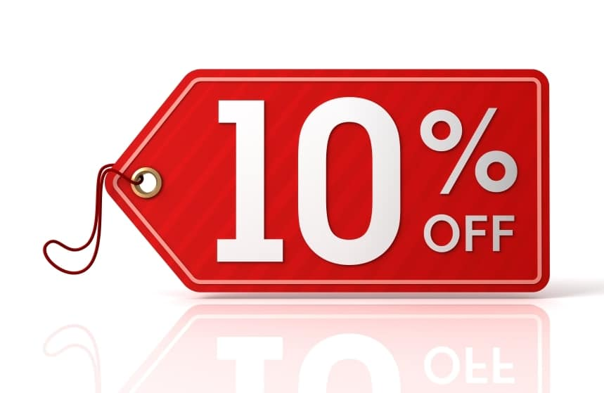 10% OFF em seleção de produtos