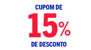 15% OFF nas Casas Bahia