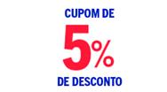 5% OFF nas Casas Bahia