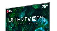 R$250,00 OFF na Smart TV LG 75″ 4K UHD